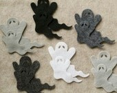 Stormy Weather - Ghosts in Style 1 - 24 Die Cut Felt Shapes