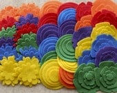 Over the Rainbow - Super Pack - 132 Die Cut Felt Flowers and Circles