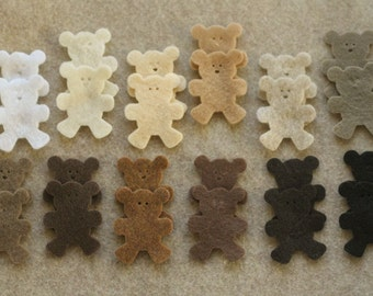 Grand Canyon - Teddy Bears - 24 Die Cut Felt Shapes