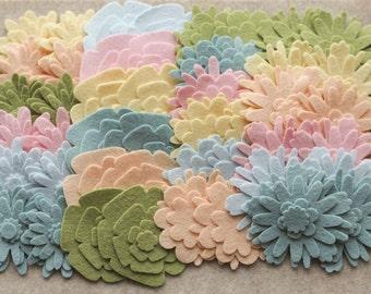 Wool Dream - Flower Power Pack - 180 Die Cut Wool Felt Flowers