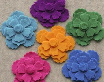 Wonderland - Begonias - 18 Die Cut Felt Flowers