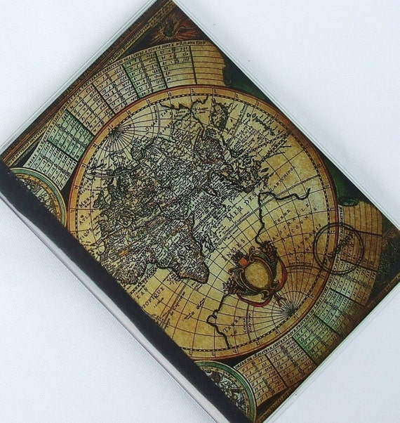 MAP PASSPORT COVER  Vintage Olde World Map