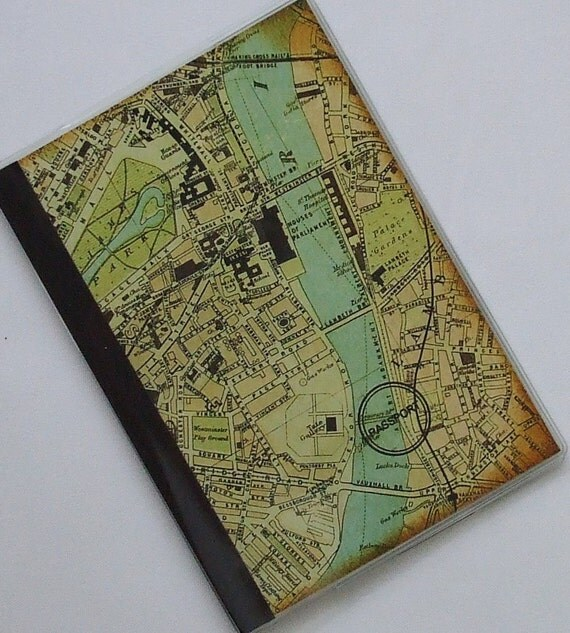 PASSPORT COVER Vintage London Atlas