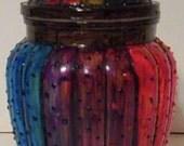 Dotted Rainbow Lidded Jar- with bath salts