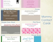 Mommy Card....Fun and trendy predesigned contact cards for moms