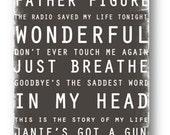 Subway Art / Custom Song Playlist  / Digital / Personalized / Printable / 12x36