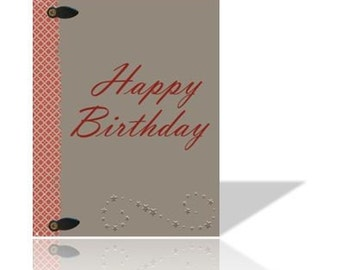 Printable Birthday Greeting Card 4.25 x 5.5 Digital DIY