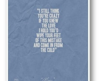 The Cold / Quote / Cecilia Knutson / DIGITAL Typography Poster / Printable