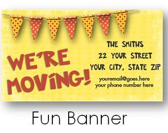 Moving Announcement Card Digital / Business Card Size