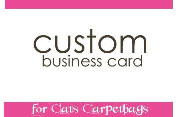 Custom Business Card Cats Carpetbags