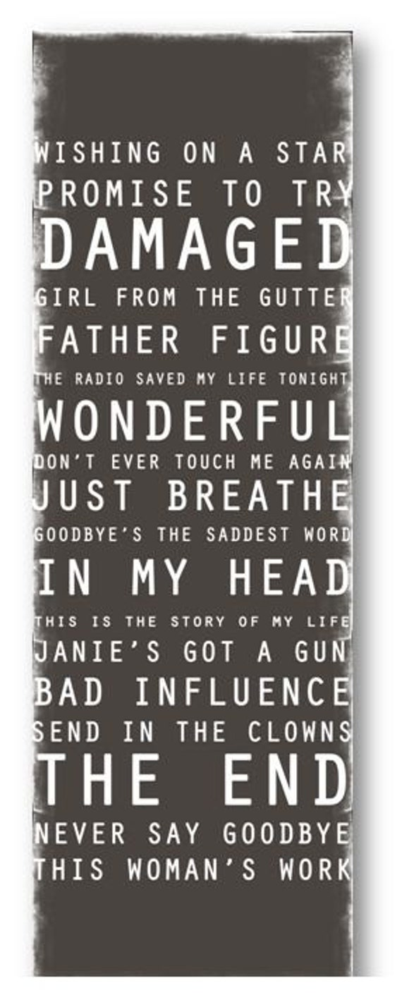 Subway Art / Custom Song Playlist  / Digital / Personalized / Printable / 12x36