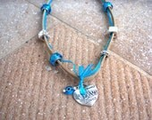 Reserved for Nancy -Lucky In Love Summery Choker c/w Pandora Style Beads and Metallic Beads -Available Only In My Shop