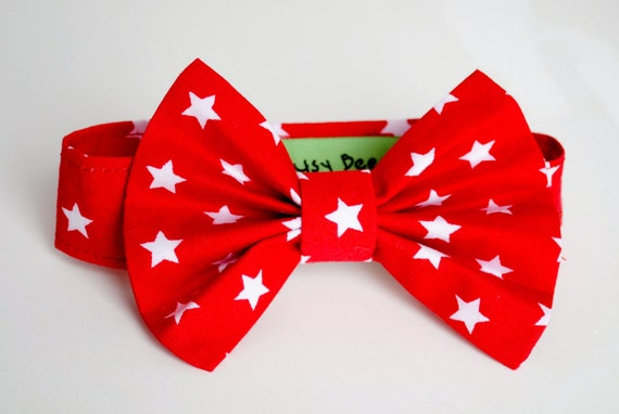 Baby Boy and Toddler Red and White Star Bow Tie