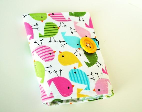 Girl Crayon Wallet - Colorful Chickadees - Crayon Tote - LAST ONE