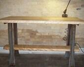 Vintage Industrial Work Bench....Repurposed Kitchen Island, Table, or Desk