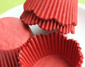 Red Scallop Cupcake Liners, Baking Cups (200)