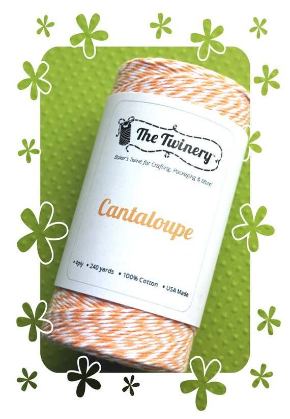 Light Orange Bakers Twine Spool - The Twinery Cantaloupe (240 yard spool)