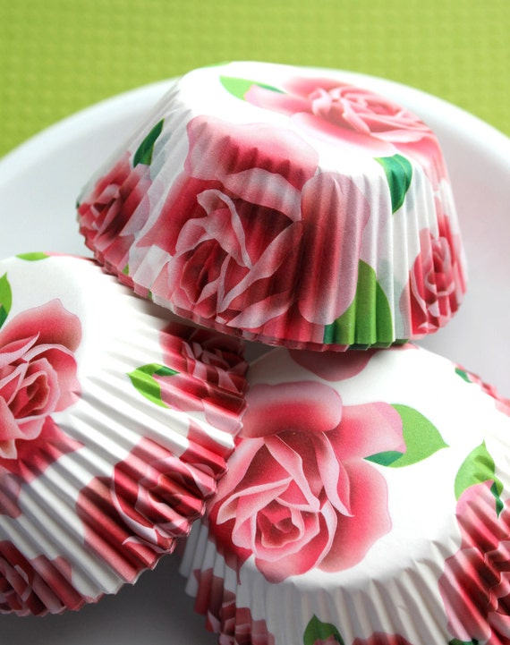 Vintage Cupcake Liners Sophiebella 8 Kinds Flower Muffin