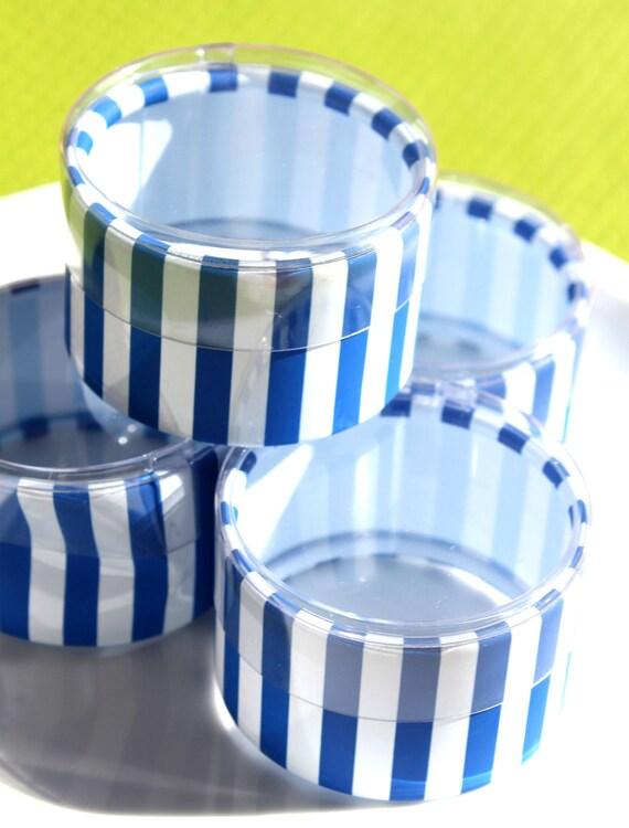 Blue Stripe Candy Favor Boxes (set of 14) LAST SET - SALE