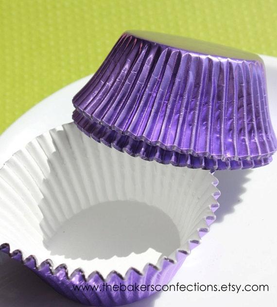 BULK Purple Foil Cupcake Liners, Baking Cups (500 COUNT) SALE