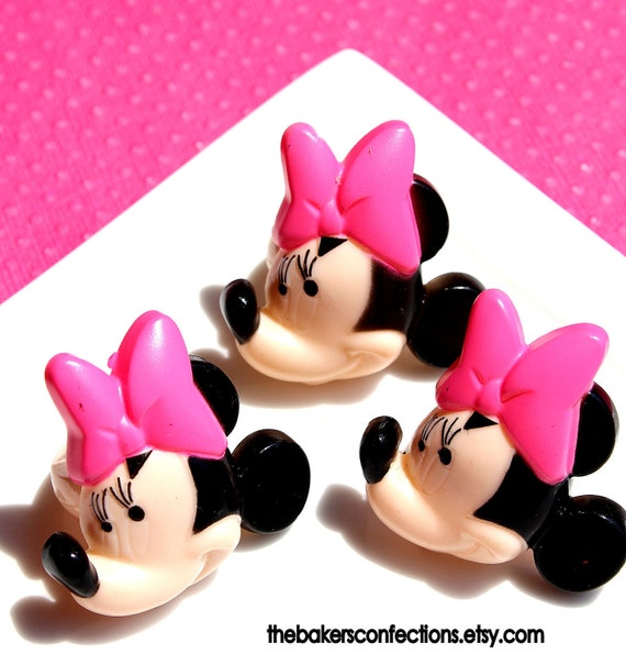 Minnie Mouse Cupcake Ring Toppers - Party Favors (set of 12)