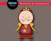 Disney Cogsworth from Beauty and the Beast Digital CLIP ART personal and commercial use for cards, invitations, cupcake toppers