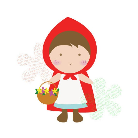 Items similar to Little Red Riding Hood Digital CLIP ART personal and ...