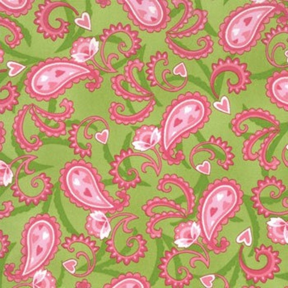 Moda's New (Sent With Love Foliage) fabric in Green - by Deb Strain