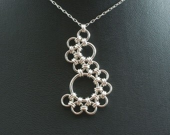 Shenandoah Sterling Silver Chainmaille Pendant Necklace