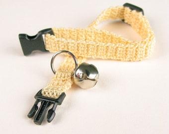 Cat Collar - Crochet Butter Cream