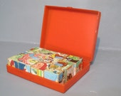 Vintage Fairytale Block Puzzle in Original Box- Western Germany / Wooden Cube Picture Puzzle with Six Fairy Tales, Little Red Riding Hood - MilkasTreasures