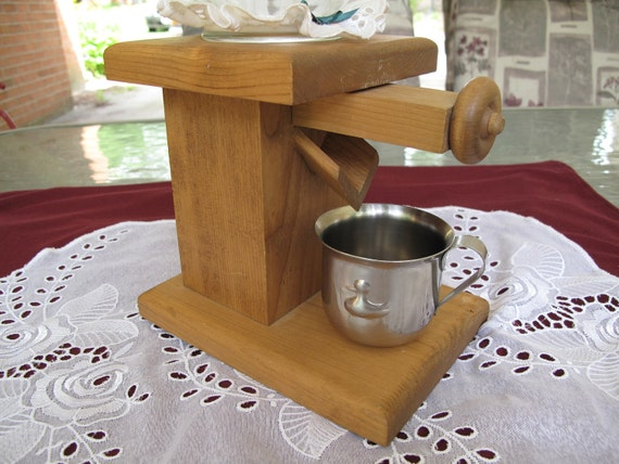 Wooden Candy Table ~ Sale off vintage amish handmade wood candy dispenser with