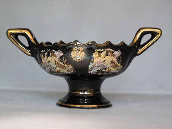Sale 25 Off Vintage Greek Handmade Pedestal Vase Small