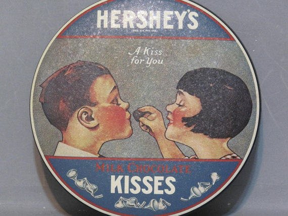 Vintage Advertising Hershey S Tin A Kiss For You By