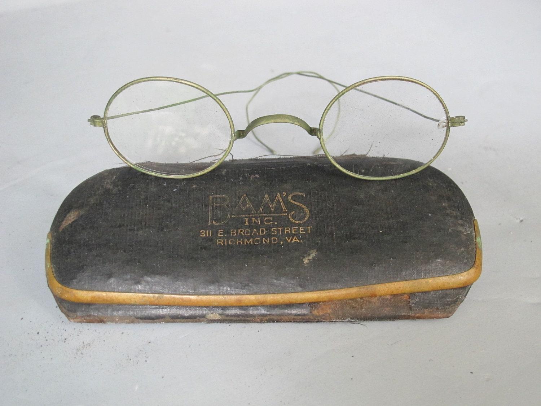 Vintage Eyeglasses Antique Reading Glasses Wire Frame