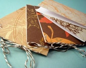 Fall Leaves GIFT TAGS - set of 6 skinny cards