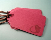 Forest Harvest GIFT TAGS - set of 6 in raspberry