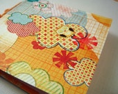 Owl Dream GIFT TAGS - set of 4 square notebooks