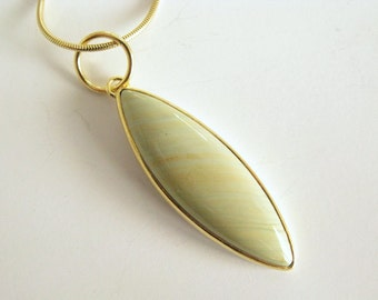 22k gold leaf pendant