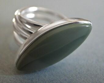 leaf ring - imperial jasper
