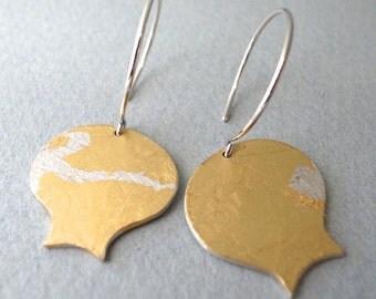 gold dangle earrings - shape 4