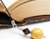Banana Agate OOAK Bookmark Book Thong