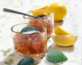 Caramelized Meyer Lemons with Sweet Italian Basil  - Comes in elegant gift box
