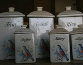 Very old bird Canister set