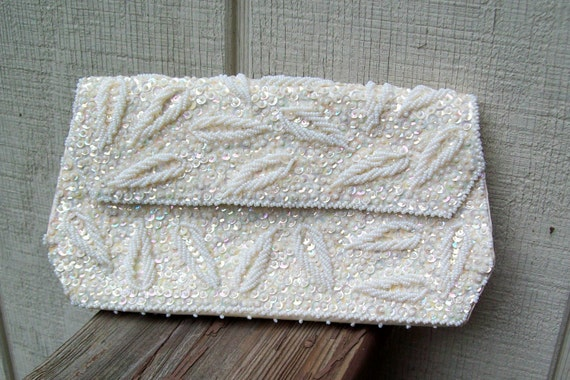 Vintage beaded sequined purse-clutch-bag-prom-wedding