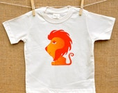 Little Bird Leo our Lion Organic Tee. sizes 2t, 3t, 4t king of the jungle Animal