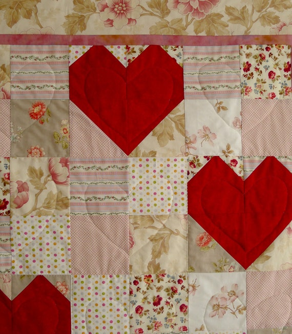RED and PINK HEART Quilt