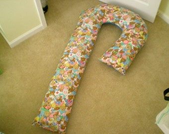 Pregnancy 5-Foot Candy Cane Shaped Body Pillow