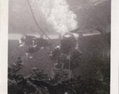 Vintage scuba diver photograph