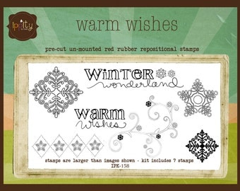 Clearance - Unity - Ippity Stamp Set by Unity Stamp Company - Warm Wishes